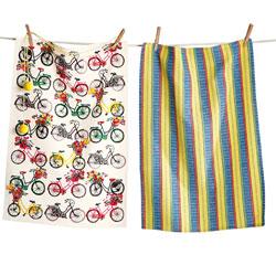 SALE!  Bike Rider Dishtowel Set