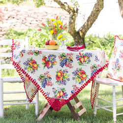 SALE!  Fruit Basket Breakfast Tablecloth