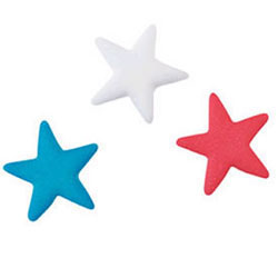 Sugar Stars Patriotic Assortment, Set of 24