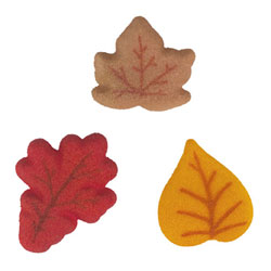 Fall Leaves Sugar Decorations