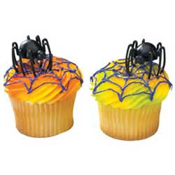 3D Hunchback Spider Cupcake Pick Set