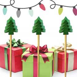 SALE!  Christmas Tree Party Picks, Set of 25