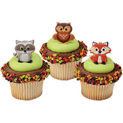 Woodland Friends Cupcake Rings Set