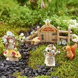 SALE!  Mini Woodland Friends Fiqurine Set