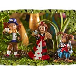 Mini Alice Mad Hatter, Queen of Hearts & March Hare Set