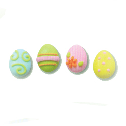 Icing Easter Egg Small Pastel, Set of 18