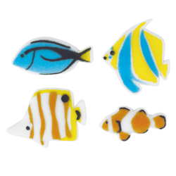 Reef Fish Assortment Sugar Decorations