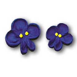 Violets Icing Decorations