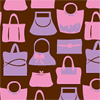 Hot Pink Purses Chocolate Transfer Sheet