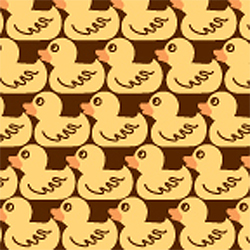 SALE!  Rubber Duckie Chocolate Transfer Sheet