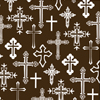 Crosses White Chocolate Transfer Sheet