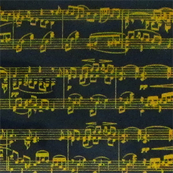 Music Notes Gold Chocolate Transfer Sheet