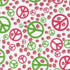 Peace Sign Raspberry & Lime Chocolate Transfer Sheet
