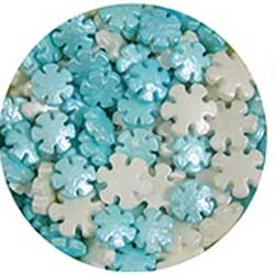 LTD QTY! Snowflake Sprinkles - Pearlized