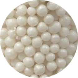 3mm White Pearlized Sugar Pearls