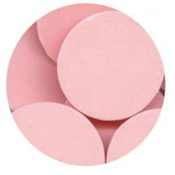 Confectionery Coating, Light Pink, 1 lb Bag