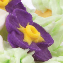 "Pansy Assortment 1.25"" Icing Decorations"