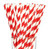 Striped Paper Straws Red, Package of 144
