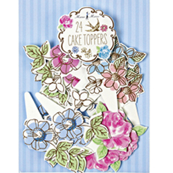 SALE!Love in the Afternoon Cupcake Picks, Set of 24