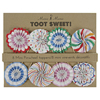 Toot Sweet Mini Pinwheel Picks, Set of 8