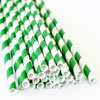 SALE!  Striped Paper Straws Dark Green, Package of 25