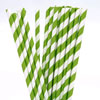 Striped Paper Straws Kelly Green, Package of 25