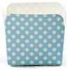 Square Baking Cup - Turquoise Dot