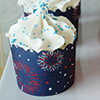 Navy 4th of July Baking Cup Large