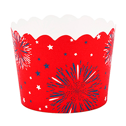 Red 4th of July Baking Cup Small