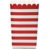 Small Popcorn Box - Scarlet Red Horizontal