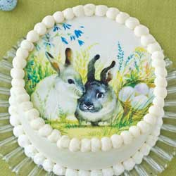 "Easter Bunnies 8"" Cake Topper Wafer Paper"