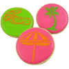 Beach Themed Cookie  Stencil, Set of 3