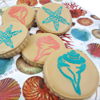 Seashells Cookie Stencil, Set of 3