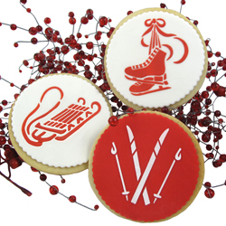 Winter Sport Cookie Stencils, Set of 3