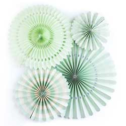 SALE!  Mint Party Fan Set
