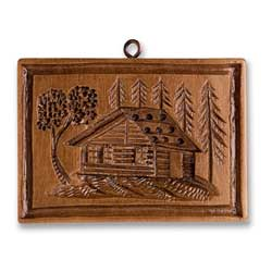 Pinewood Cabin Cookie Mold