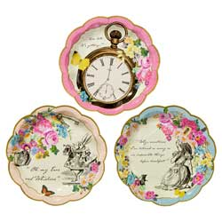 Truly Alice Dainty Tea Party Dessert Plates