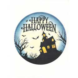 "Haunted House 8"" Cake Topper Wafer Paper"