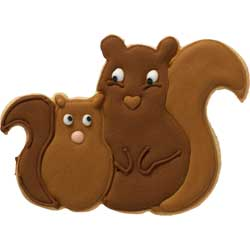 SALE!  Squirrel Couple Cookie Cutter
