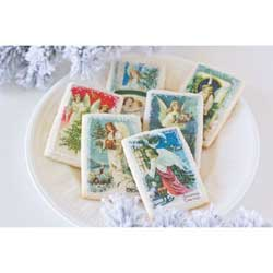 Christmas Angels Mini Postcards Wafer Paper
