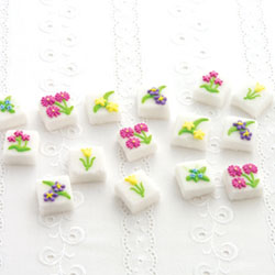 SOS! Pretty Sweet Flower Sugar Cubes