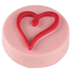 Scribbled Heart Chocolate Covered Oreos Mold