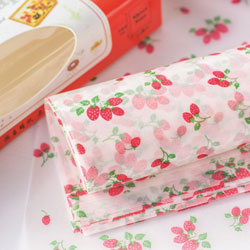 Strawberry Waxed Paper Sheets