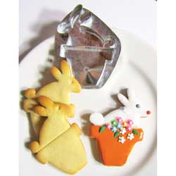 Flower Pot Bunny Cookie Cutter, Hammer Song