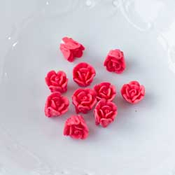 Red Tiny Rose Icing Decorations