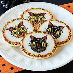 Black Cat & Owl Wafer Paper - A Johanna Parker Desig