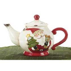 SALE!  Merry Santa Teapot