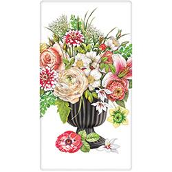 SALE!  Flowers in Black Vase Flour Sack Towel