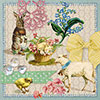 Easter Collage Lunch Napkins