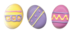 Large Bright Easter Egg Icings
